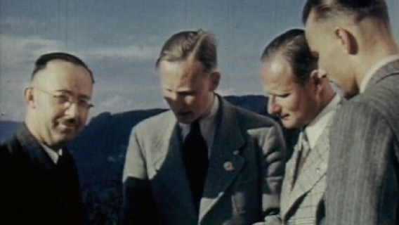 Heinrich Himmler (far left) played a crucial role in Nazi plans for Poland