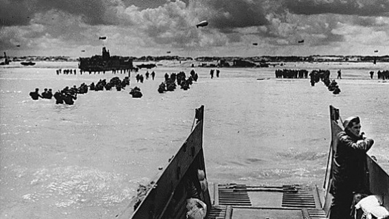 Allied troops land in Normandy in the wake of D-Day
