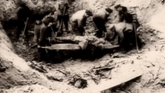 The Germans exhumed over 4,000 bodies at Katyn